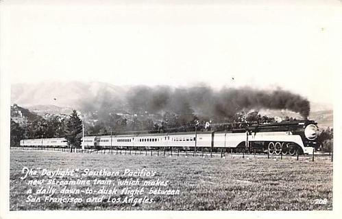 The Daylight, Southern Pacific's Streamliner Real Photo RPPC Vintage Postcard