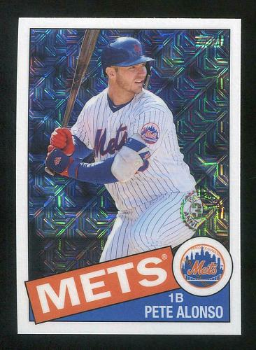 2020 TOPPS SILVER PACK 1985 TOPPS CHROME PETE ALONSO, 85C-26