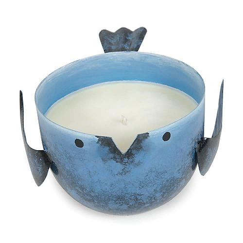 *17669U - Coastal Water Iron Birdie Scented Soy Blended Wax Candle