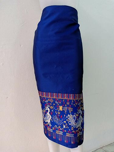 Lao Laos Traditional Silk Fabric For Costume Skirt Sinh Salong clothing Dress