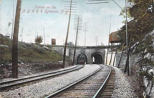 Tunnel On the New York Central Railroad, Syracuse NY Vintage Postcard