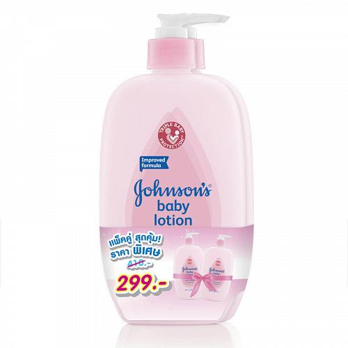 Johnson's Baby Lotion Improved Formula from Thailand 500ml Pack of 2