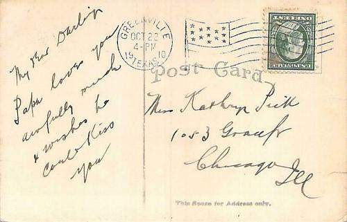 M.K. & T. Station, Greenville, Texas Vintage Postcard
