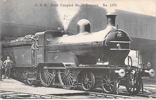 G.N.R. Four Coupled Bogie Xpress, No. 1373 English Vintage Postcard