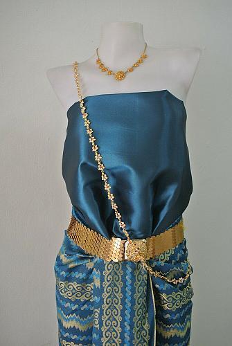 Thai Myanmar Bondi Blue Silk Fabric For Top Skirt Wedding dress Costume Clothing