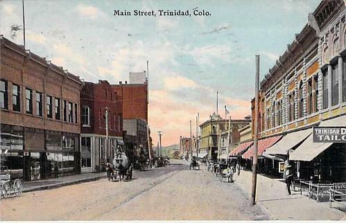 Main Street, Trinidad, Colo. Used Vintage Postcard