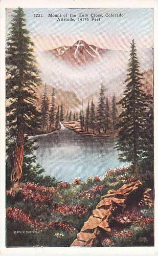 Mount of the Holy Cross, Colorado Unused Vintage Postcard