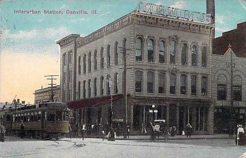 Interurban Station, Danville, Illinois Vintage Postcard