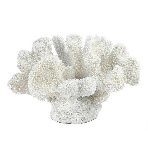 *17016U - Small White Faux Coral Statue Sea Life Figurine