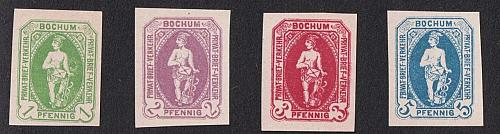Bochum German Private Post Verkehr, Mi A27-A30,Imper, MNG As Issued