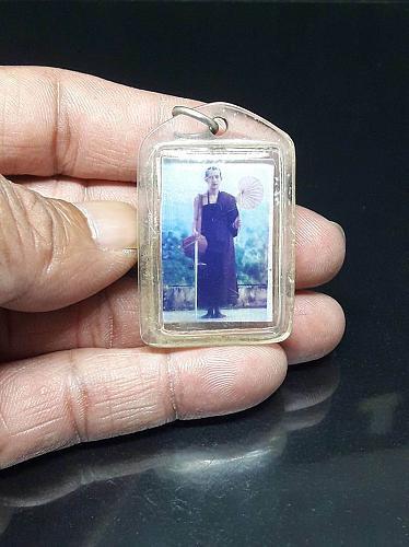 Old Rare Kruba Boonchum Photo Thai Amulet Buddha Fetish Luck Money Charm Pendant