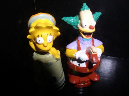 The SimpsonsKrusty the clown and Lisa Simpson with hat 2 PVC Figurines