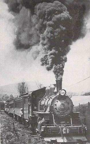 Bath & Hammondsport Railroad No. 11 Steam Engine Vintage Postcard