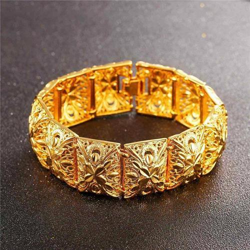 Dubai Bangle Gold Bracelet for Women Islam Muslim Arab Color Wedding Party