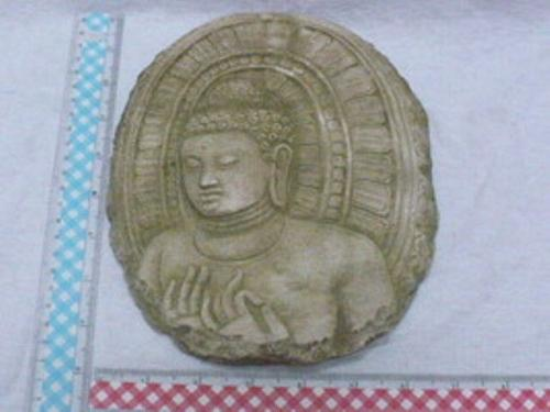 BUDDHA IMAGE HOT ITEM SAND STONE COLLECTIBLE VINTAGE WITH STAND 2