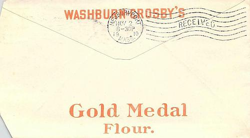 1910 Haverhill, Mass. Gold Medal Flour Distributor Illustrated Advertising Cover
