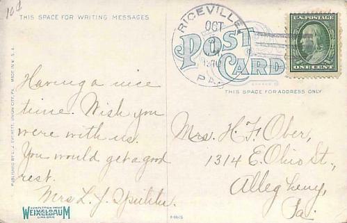 Main Street Union City PA Vintage Postcard