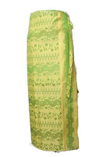 "Thai Myanmar Wrap Sarong Long Skirt Stitching Tie Waist Free Size to 40"" SR9"