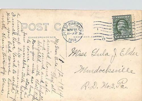1914 Real Photo of Pittsburgh PA House RPPC Vintage Postcard