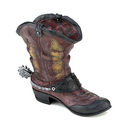 *15324U - Spur Cowboy Boot Planter Pot