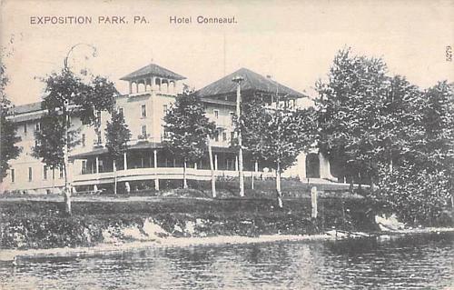 Exposition Park, PA Hotel Conneaut Vintage Postcard