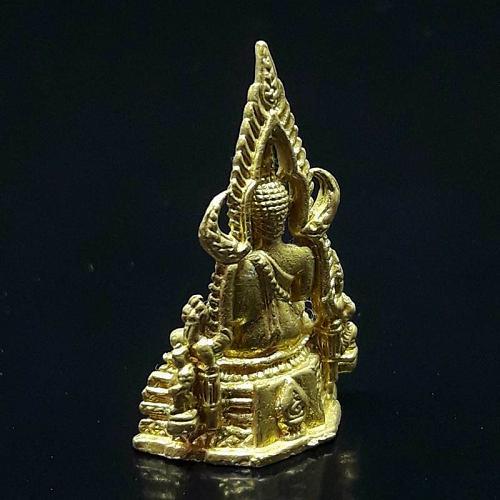 THAI AMULET GOLD TONE CHINNARAT BUDDHA STATUE WEALTH KING OF VICTORY THAILAND
