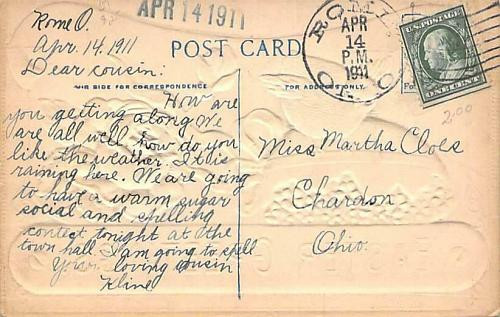 Easter Greetings Chick and Flower Air Brush Embossed Vintage Postcard