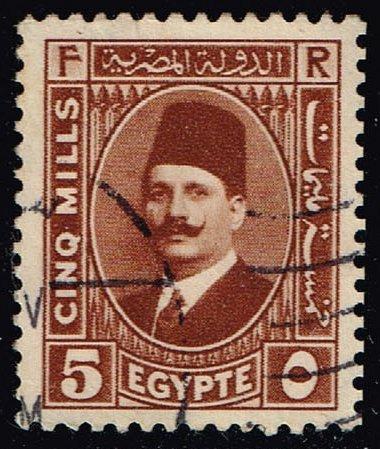 Egypt #135 King Fuad; Used (0.40) (4Stars)  EGY0135-07XBC