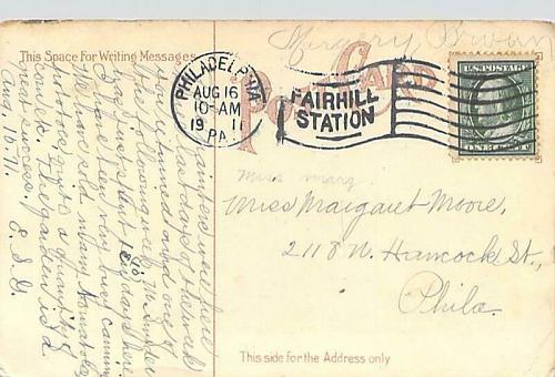 Old Livezey House, Washington's Headquarters, Wissachickon Vintage Postcard