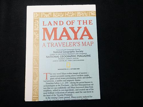1989 National Geographic Map of the Land of the Maya (M3)