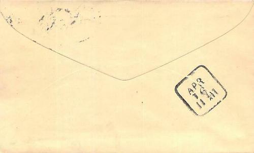 Pittsburgh PA U59 Cover to Philadelphia Received Back-stamo