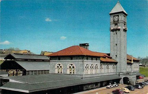 Baltimore and Ohio Railroad Station,Mt. Royal Station Baltimore Vintage Postcard