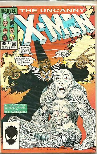 Uncanny X-men #190 MARVEL COMICS 1984 1st series & print