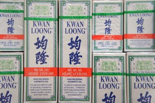 KWAN LOONG PAIN RELIEVING INSECT BITE MEDICATED AROMATIC OIL 28, 57 ML.