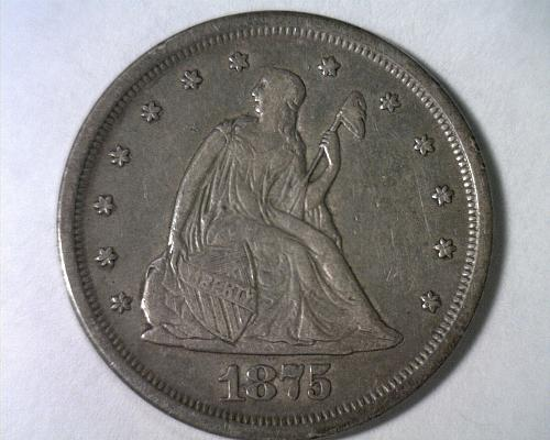 1875-S TWENTY CENT PIECE EXTRA FINE XF EXTREMELY FINE EF NICE ORIGINAL COIN