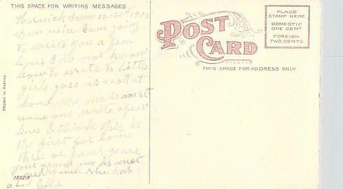 Christmas Greetings Vintage Color Family Photo Postcard
