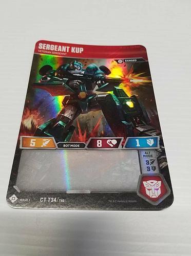 Transformers Trading Card Game TCG WOTC Set of 2 Sergeant Kup Autobot Hound 2018