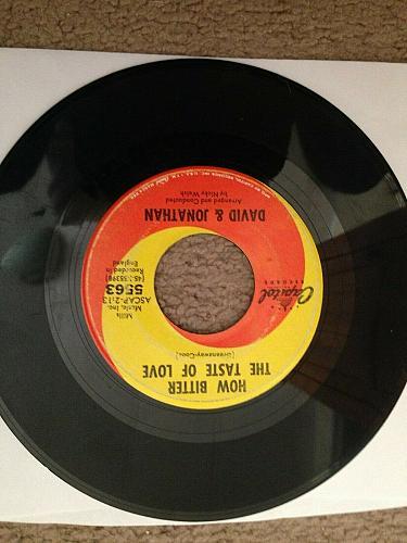 DAVID & JONATHAN MICHELLE / HOW BITTER THE TASTE OF LOVE 45 RPM VG++