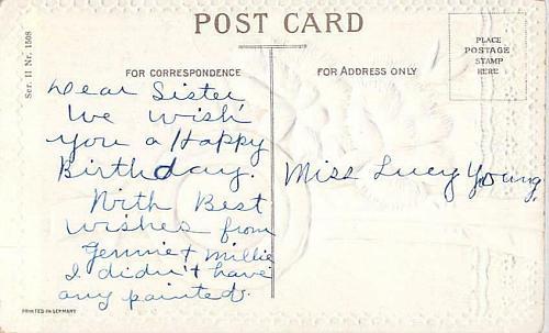 A Happy Birthday Embossed Vintage Postcard
