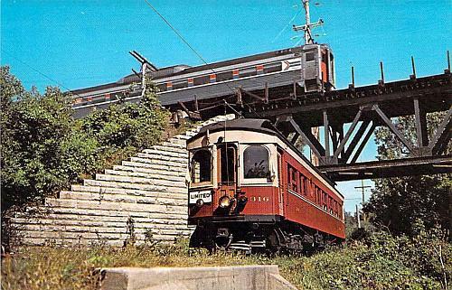 Chicago, Aurora and Elgin Interurban Car Relic Trolley Museum Postcard