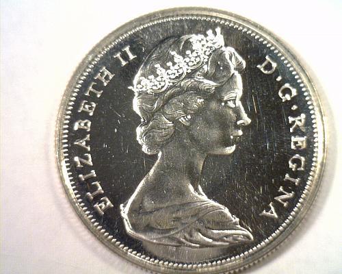 1967 CANADIAN HALF DOLLAR CHOICE UNCIRCULATED/ GEM+ PROOF LIKE CH. UNC./ GEM+ PL