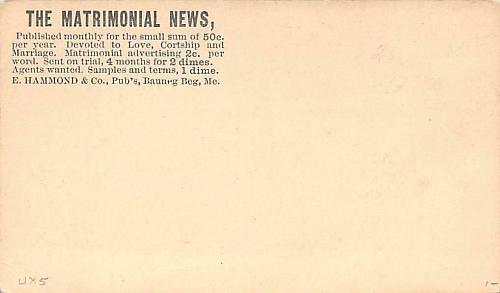 UX5,Mint US Postal Card, Advertising Corner on Reverse