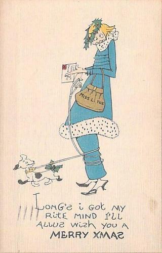 Ilustrated Humor Chritsmas, Rite Mind Vintage Postcard