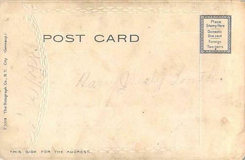 A Happy Birthday Embossed Border Rotograph Vintage Postcard