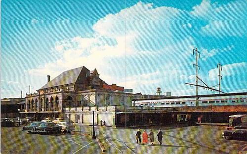 North Philadelphia Pennsylvania Railroad Station Postcard