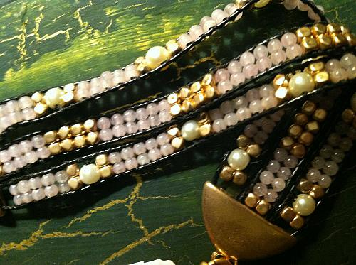 Pearl Twisted Bracelet 19167187364 Semi Precious Accents Rose Gold