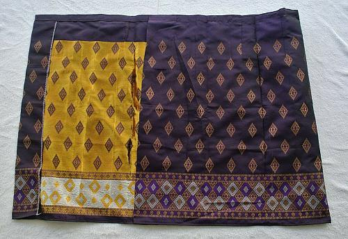 Lot 8 Lao Laos Laotian Synthetic Silk Women Sinh Skirt free Expited Shipping #31