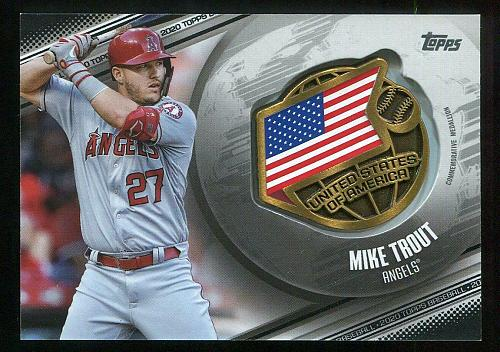 2020 TOPPS GLOBAL GAME MEDALLION BLACK MIKE TROUT, GGM-MT, 35/149