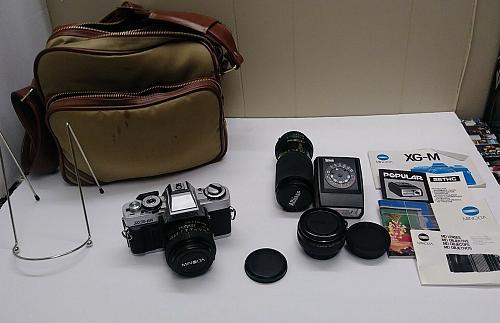 Minolta XG-M Camera with Extras and Bag