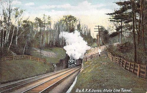B&A.Railroad Series, State Line Tunnel Vintage Postcard